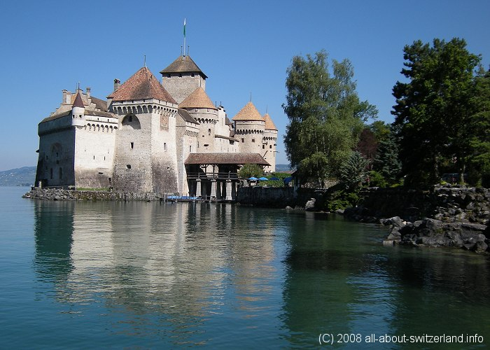 Chillon Castle, Montreux, Lake Geneva, Switzerland